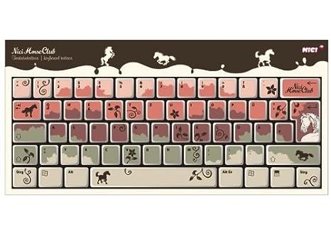 NICI 32693 - Tatuajes para teclado, diseño de caballos: Amazon.es: Juguetes y juegos