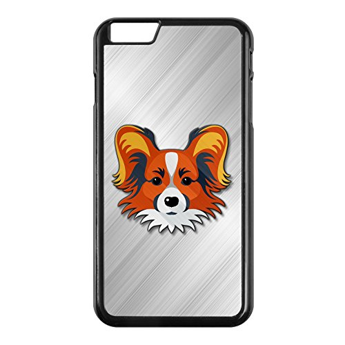 ExpressItBest Case for iPhone 6 with Papillon Face - Durable Rigid Plastic