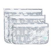 Bumkins Reusable Clear Travel Bag 3 Pack, Arrow