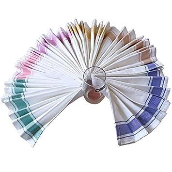 Coton /50/cm x 70/cm 50cm*70cm Green Milnut 100/% Coton Serviettes de Cuisine Haut de Gamme Restaurant Serviettes de Cuisine torchons absorbants Plat Chiffon Bleu/