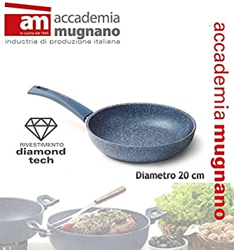 Sartén 20 cm efecto piedra Antiadherente revestimiento Diamond Tech GRANITO BLU: Amazon.es: Hogar