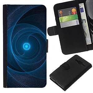 Stuss Case / Funda Carcasa PU de Cuero - Sun Pulsar Web Negro Patr¨®n - Samsung Galaxy Core Prime