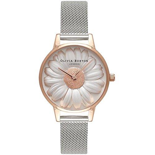 Olivia Burton Reloj Analógico para Mujer de Cuarzo con Correa en Acero Inoxidable OB16FS94: Amazon.es: Relojes