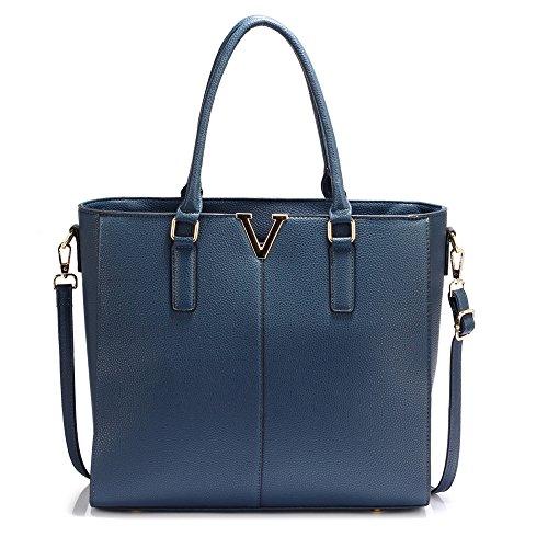 Grace Bolso De M Azul Mujer Para Anna Tela Marino AdwdCq