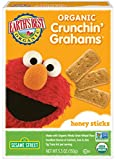 Earth's Best Organic Crunchin' Grahams, Toddler Snacks, Honey Sticks, 5.3 Oz (Pack of 6)