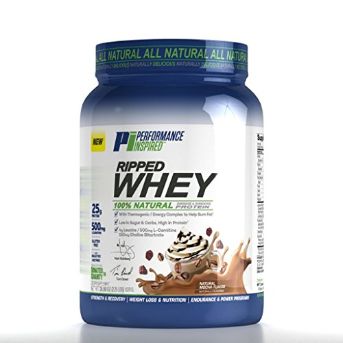 Performance Inspired Nutrition Ripped Whey Protein, Mocha, 2.25 lbs by Performance Inspired Nutrition
