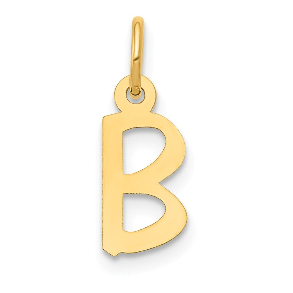 Mia Diamonds 14k Yellow Gold Small Slanted Block InitialB Charm
