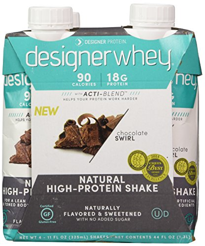 Designer Protein Shake, Chocolate, 10.5 Fluid Ounce (Pack of 4)