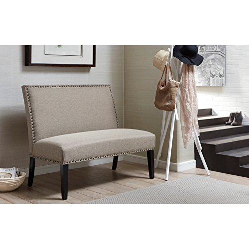 Sofaweb.com Brown Upholstered Nail Head Trim Banquette Bench (Bench Furniture Banquette)