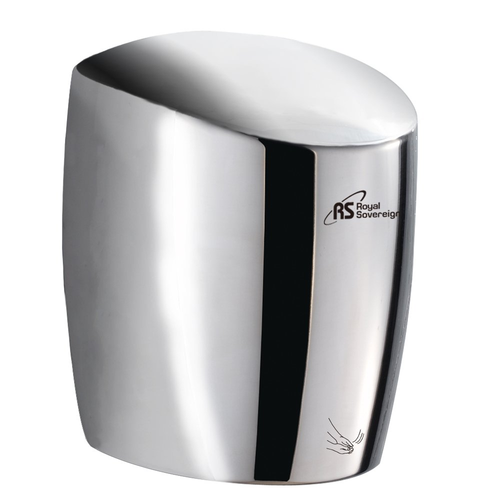Royal Sovereign Touchless Automatic Hand Dryer, Under 15 second hand dry time, 1400 Watt Brushed stainless steel (RTHD-636SS)