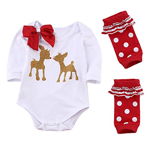 [MIOIM Newborn Baby Boys Girls Cute Xmas Romper Bodysuit Jumpsuit Pajamas Outfits] (Hippie Outfit Ideas)