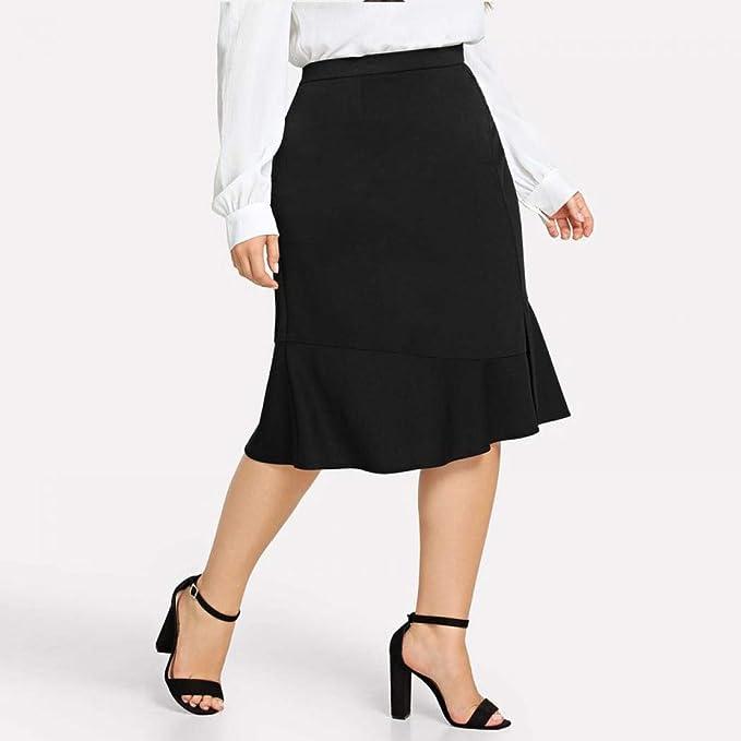 Falda SimanliHip para mujer, falda maxi, falda plisada, falda de ...
