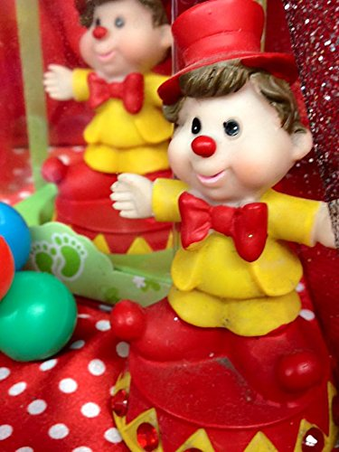 48 Birthday Circus Theme Clown Favor Decoration Cake Topper Party Supplies by onlinepartycenter (Image #1)
