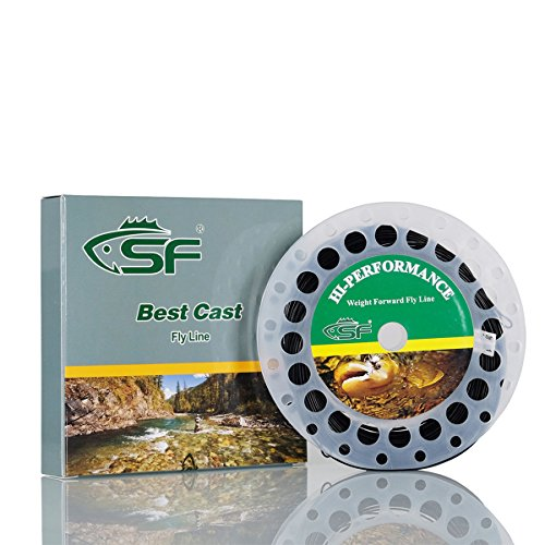 9wt Lines (SF Full Sink Line Fly Fishing Line Weight Forward Taper WF8S IPS 5-6 Black)