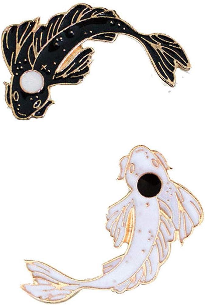 5000 翻译结果 2 Unids 977 set Conjunto de Broches de Peces Koi Dibujos Animados Koi Broche Pin Insignias para Ropa Bolsas Mochilas