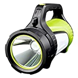 Rechargeable Spotlight Searchlight,Rechargeable Flashlight- 10 Modes Multifunction Super Bright Outdoor Camping Lights with USB Ports to Charge Mobile Devices and Special SOS Modes