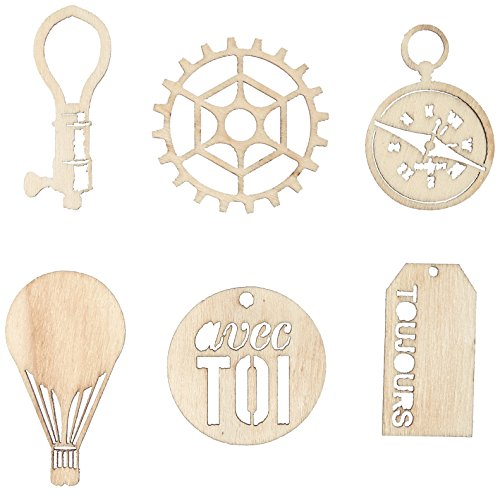 UPC 655350572891, Prima Marketing 572891 24-Piece Cartographer Laser Cut Wood Icon