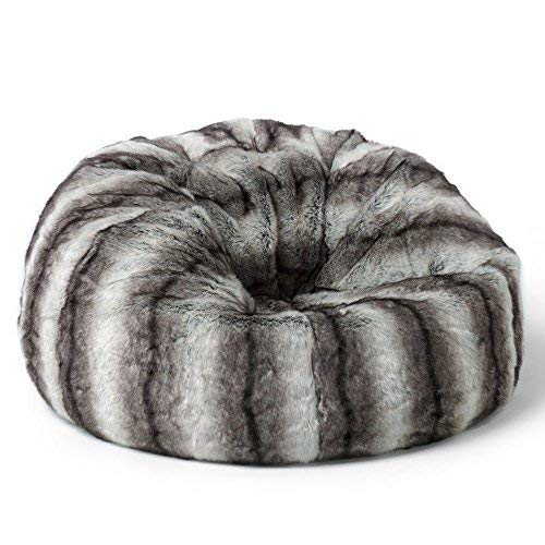 a219a3a959 icon Faux Fur Bean Bag Chair - Arctic Wolf Grey - Extra Large