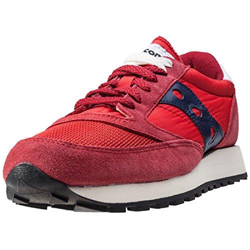 Sneaker Saucony Jazz Vintage en tejido mesh rojo y negro Rojo