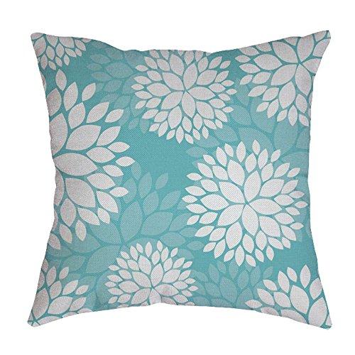 iYBUIA Leaf Printed Cotton Linen Pillow Case Sofa Waist Throw Cushion Cover Home Decor