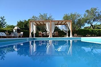 Amazon.com: Home Comforts Laminated Poster Villa Holiday Swimming ...