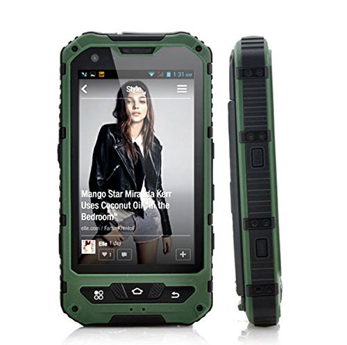 Sudroid 4 inches IP68 Rugged Smartphones with Android 4.4.2 Os and Quad Core Dual Sim Supporting NFC (Green) by Sudroid