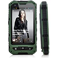 Sudroid 4 inches IP68 Rugged Smartphones with Android 4.4.2 Os and Quad Core Dual Sim Supporting NFC (Green)