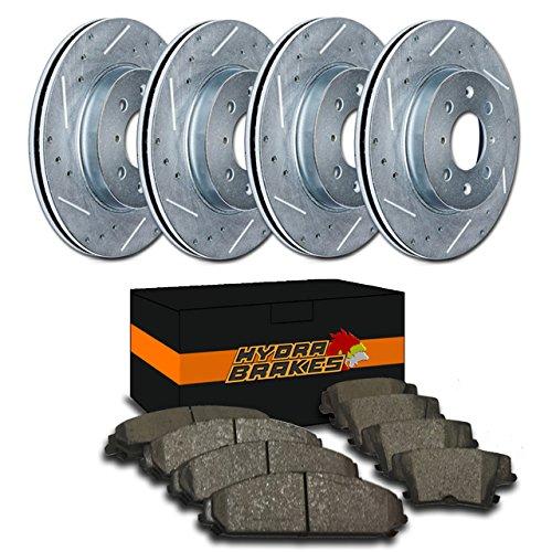 Hydra Brakes - FITS 2001 2002 DODGE STRATUS SEDAN Drill Slot Brake Rotors Ceramic ()