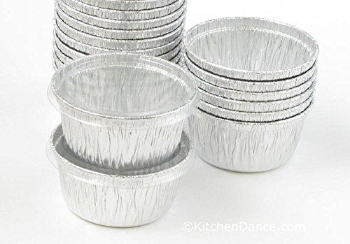 Disposable Aluminum 4 Oz Ramekins/foil Cups w/ Clear Snap on Lid #1400p (1,000) by KitchenDance (Image #2)