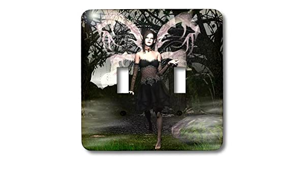 3dRose lsp/_26470/_1 Wicked Goth Fairy Single Toggle Switch