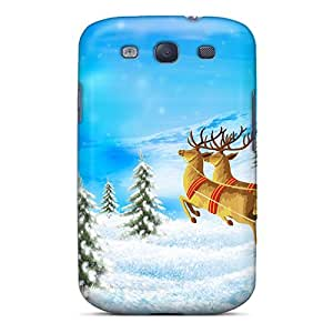 Anti-scratch And Shatterproof Santa Merry Christmas Phone Case For Galaxy S3/ High Quality Tpu Case
