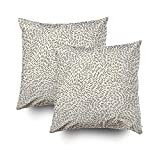 ROOLAYS Decorative Throw Square Pillow Case Cover 16X16Inch,Cotton Cushion Covers abstract pattern Both Sides Printing Invisible Zipper Home Sofa Decor Sets 2 PCS Pillowcase