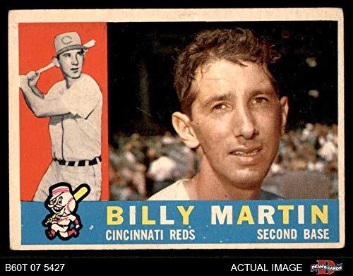 1960 Topps # 173 Billy Martin Cincinnati Reds (Baseball Card) Dean's Cards 3 - VG Reds ()