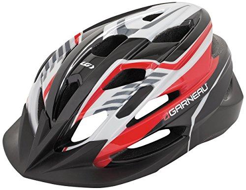 Louis Garneau HG Razz Junior Cycling Helmet, Black/Red