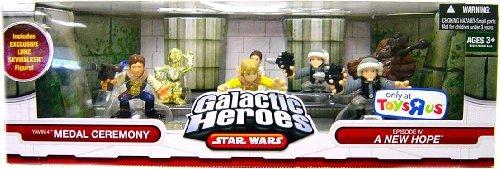 (Star Wars Galactic Heroes Exclusive Deluxe Cinema Scene Mini Figure Multi Pack Yavin IV Medal Ceremony)