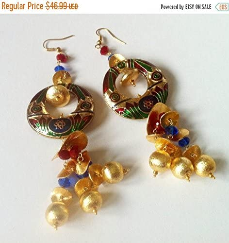 Chandeliers Earrings 3.5 Long Beaded