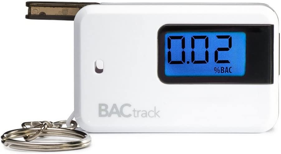 BACtrack Go Keychain Breathalyzer, Portable Keyring Breath Alcohol Tester, White