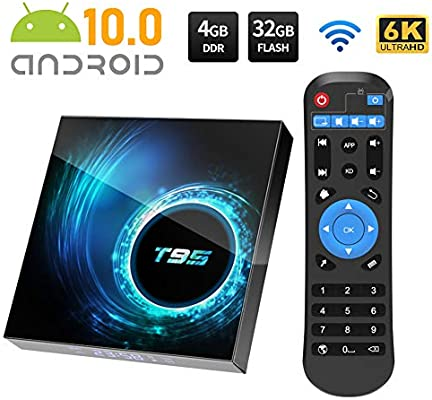 Android TV Box, T95 Android 10.0 TV Box 4GB RAM/32GB
