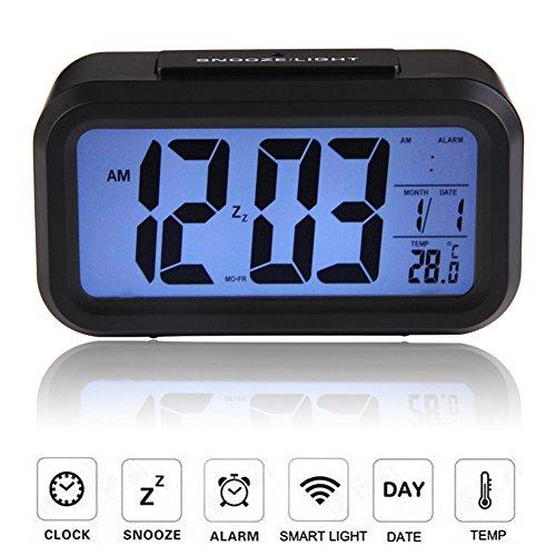 MAZIMARK--Digital Backlight LED Display Table Alarm Clock Snooze Thermometer Calendar Time by MAZIMARK