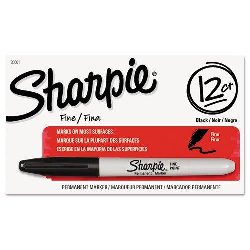 Sharpie Permanent Markers, Fine Point, Black Case of 24 Dozens