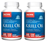 Jarrow Formulas Krill Oil Traceability, Sustainability, Ecologically Friendly Phopholipid Omega 3 Complex with Astaxanthin 600 Milligrams per Softgel (60 Softgels) Pack of 2 (240 Softgels)