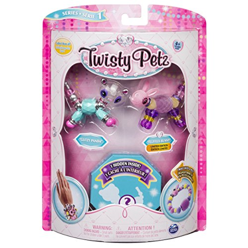 Twisty Petz - 3-Pack - Glitzy Panda, Fluffles Bunny and Surprise Collectible Bracelet Set for Kids by Twisty Petz