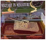 World War II German Panther Tank Diecast with Insignias 1/87 HO Scale Wargaming Toy Soldiers Military Miniatures World Armor Series