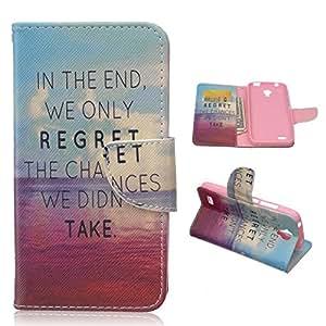 Frrency® Para Huawei Y5/Y560 Funda de Tapa de Cuero Flip Stand Case Cover-Free Touch (RC) Gift Stylus Pen