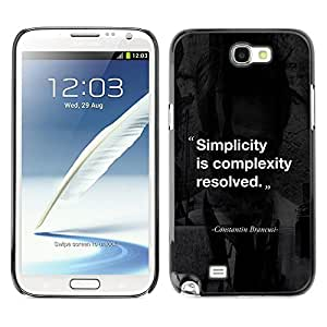 Planetar® ( Simplicity Complexity Quote Inspiring ) SAMSUNG Galaxy Note 2 II / N7100 Fundas Cover Cubre Hard Case Cover