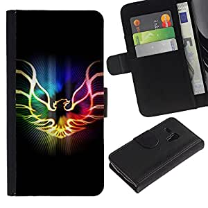 All Phone Most Case / Oferta Especial Cáscara Funda de cuero Monedero Cubierta de proteccion Caso / Wallet Case for Samsung Galaxy S3 MINI 8190 // Neon Flaming Phoenix