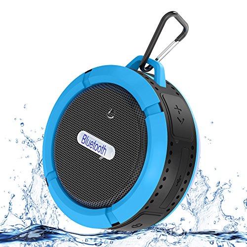 Bluetooth Speakerphone Pda (ALZN Portable Bluetooth Speaker with Mic/Speakerphone,AUX Line,Memory Card Playback Smartphones for Apple/Android Phone Speakerphone (Blue))