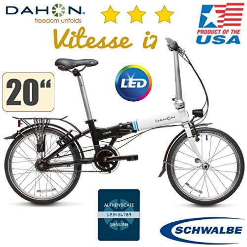 Dahon Vitesse i7 20zoll/7gang Buje/Schwalbe Marathon - LED Luz: Amazon.es: Deportes y aire libre