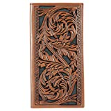 Hooey Brand Signature Floral Tooling Rodeo Leather Wallet - 1829137W2