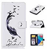 Uming® Print Pattern Colorful Holster Cover Case ( Feather birds - for Samsung Galaxy S5 I9600 S5Neo ) Artificial-leather Flip with Bracket Stander Holder Credit Card Slot Wallet Hasp Magnet Button Shell Protective Mobile Cellphone Cover Bag